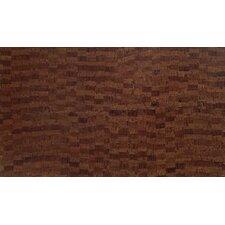 "Plank 7"" x 46"" x 10.5mm Cork Laminate in Matte Brown Fuse"