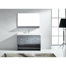 "Gloria 47"" Single Bathroom Vanity Set with Mirror"