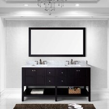 "Winterfell 72"" Double Bathroom Vanity Set with Mirror"