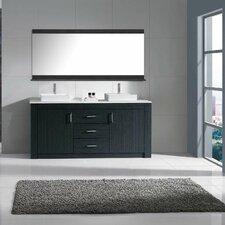 "Tavian 72"" Double Bathroom Vanity Cabinet Set with Mirror"