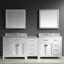 "Caroline Parkway 93"" Double Bathroom Vanity Set with Mirrors"