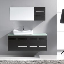 "Ultra Modern 53"" Single Bathroom Vanity Set with Mirror"