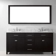 "Caroline 72"" Double Bathroom Vanity Set with Mirror"