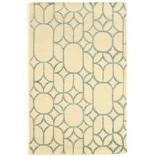 Aspire Window Hand-Tufted Ivory/Turquoise Area Rug