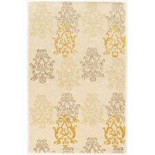 Aspire Damask Hand-Tufted Cream/Gold Area Rug
