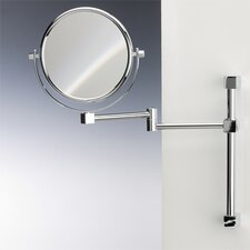 Double Face Wall Mounted 5X Magnifying Mirror with Two Arm and Two Brazo