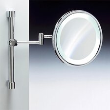 Fluorescent Light Adjustable and Extendable 3X Magnifying Mirror