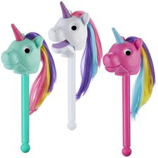 Puppet-On-A-Stick Rainbow Prancers (Set of 3)