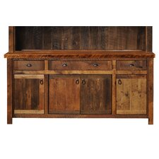 Barnwood Buffet with Hickory Legs