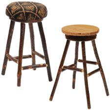 "Hickory 24"" Swivel Bar Stool with Cushion"