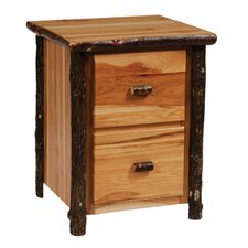 Hickory 2-Drawer File Cabinet