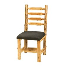 Traditional Cedar Log Upholstered Side Chair (Set of 2)