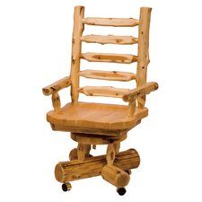 Traditional Cedar Log High-Back Wood Bankers Chair