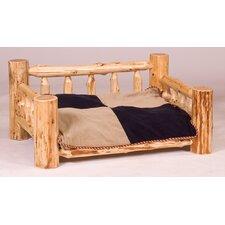 Traditional Cedar Log Dog Bed with Standard Mattress
