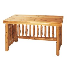 Traditional Cedar Log Writing Desk