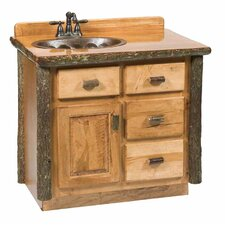 "Hickory 42"" Single Bathroom Vanity Set"