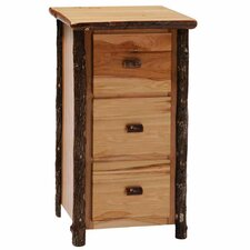 Hickory 3-Drawer File Cabinet