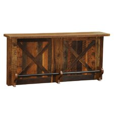 Barnwood Home Bar with Wine Storage