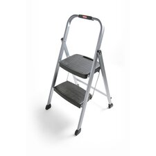 2-Step Steel Folding Step Stool with 200 lb. Load Capacity