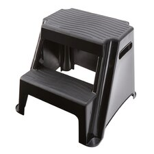 2-Step Plastic Molded Step Stool with 300 lb. Load Capacity