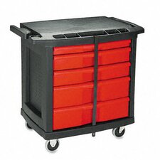 Commercial 5 Drawer Mobile Storage Container