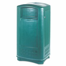 Plaza In/Outdoor 35-Gal Rectangular  Waste Container