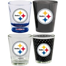 4 Piece Pittsburgh Steelers 2 Oz. Shot Glass Collector Set (Set of 4)