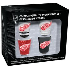 4 Piece Detroit Red Wings 2 Oz. Shot Glass Collector Set (Set of 4)