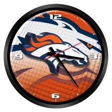 """NFL Denver Broncos 15"""" Glass Clock"""