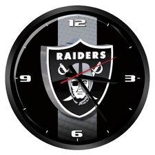 "NFL Oakland Raiders 15"" Glass Clock"
