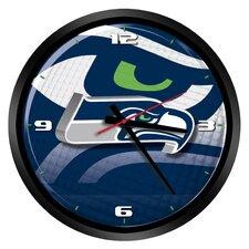 """NFL Seattle Seahawks 15"""" Glass Clock"""