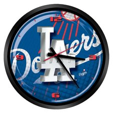 "MLB Los Angeles Dodgers 15"" Glass Clock"