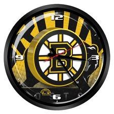 "NHL Boston Bruins 15"" Glass Clock"