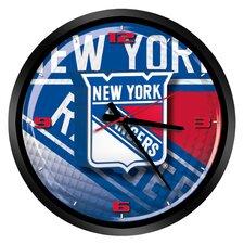 "NHL New York Rangers 15"" Glass Clock"