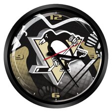 "NHL Pittsburgh Penguins 15"" Glass Clock"