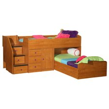 Captain's Twin Over Twin L Shaped Bunk Bed
