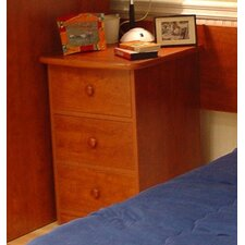 Utica Loft 3 Drawer Nightstand