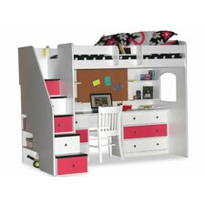 Utica Twin Dorm Loft Customizable Bedroom Set