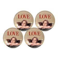 """Love Cupid 8"""" Dessert / Salad Plate (Set of 4)"""