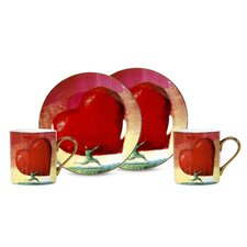 All Heart 3 oz. Espresso Cup and Saucer (Set of 2)
