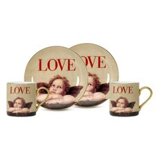 Love Cupid 3 oz. Espresso Cup and Saucer (Set of 2)