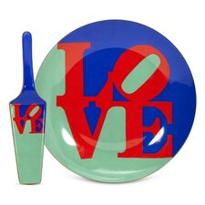 Robert Indiana Love Server and Cake Stand