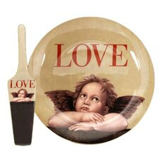 Love Cupid Server and Cake Stand