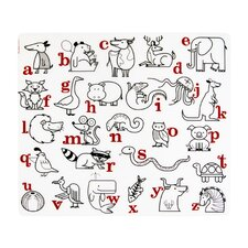 Kids Alaphabet Animals Placemat