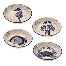 Coastal Postcards Soup / Pasta Bowl (Set of 4)
