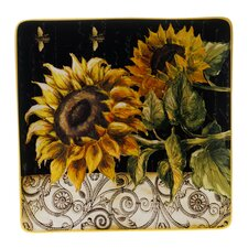 French Sunflowers Square Platter