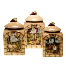 Tuscan View 3-Piece Canister Set
