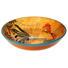 Rustic Rooster Pasta Serving Bowl