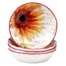 Paris Sunflower Soup/Pasta Bowl (Set of 4)