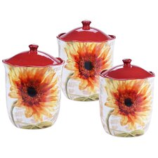 Paris Sunflower 3-Piece Canister Set